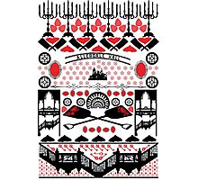 Crimson Peak Ugly Sweater Pattern Photographic Print