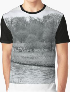 Early Spring in England Black and White Graphic T-Shirt