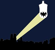 Batman Batsignal by joeredbubble
