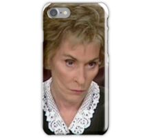 Did you think? Judge Judy iPhone Case/Skin