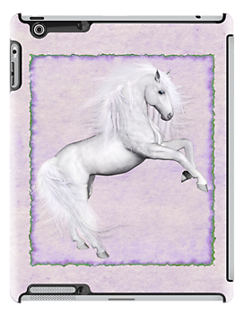 Mystical Wild Horse .. iPad case by LoneAngel