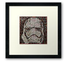 The Silver Trooper Captain - Bottle Cap Mosaic Framed Print