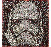 The Silver Trooper Captain - Bottle Cap Mosaic Photographic Print