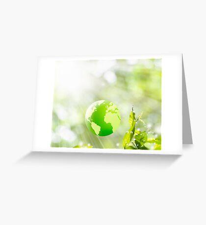 green globe Greeting Card