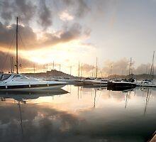 Beautiful IBIZA Sunset Harbour by Hungaro