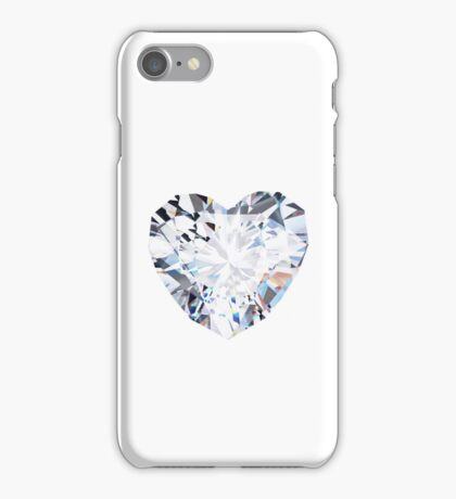 brilliant cut heart diamond ring iPhone Case/Skin