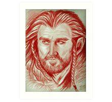 Richard Armitage, sanguine of Thorin Oakenshield  Art Print