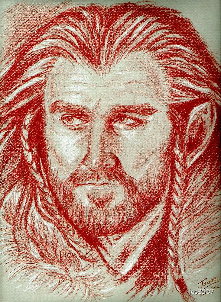 Richard Armitage, sanguine of Thorin Oakenshield  by jos2507