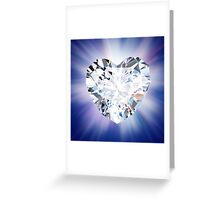 heart diamond Greeting Card