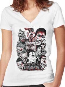 Evil Dead Trilogy Women's Fitted V-Neck T-Shirt