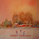 Merry Christmas from the Marsh in Kent by Beatrice Cloake Pasquier