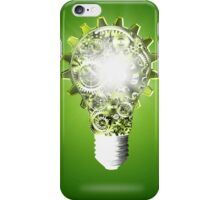 light bulb design by cogs and gears iPhone Case/Skin