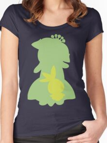 PKMN Silhouette - Petilil Family Women's Fitted Scoop T-Shirt