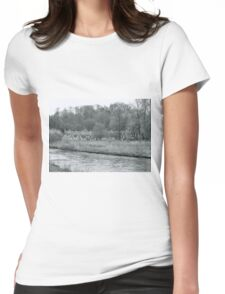 Early Spring in England Black and White Womens Fitted T-Shirt
