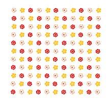 Vector Flower Pattern Photographic Print
