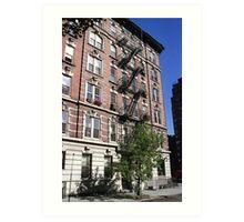 Apartment block, Greenwich Village Art Print