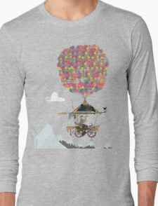 Riding A Bicycle Through The Mountains Long Sleeve T-Shirt