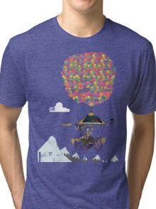 Riding A Bicycle Through The Mountains Tri-blend T-Shirt
