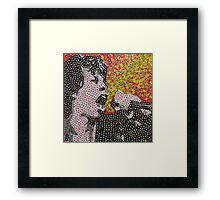 The Mick - Bottle Cap Mosaic Framed Print