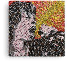 The Mick - Bottle Cap Mosaic Canvas Print