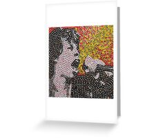 The Mick - Bottle Cap Mosaic Greeting Card