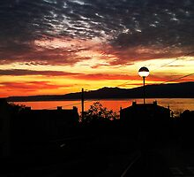 Beautiful sunset sky and sea  by manuwiza