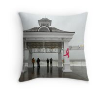 Breast Cancer & Sandy Throw Pillow