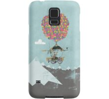 Riding A Bicycle Through The Mountains Samsung Galaxy Case/Skin