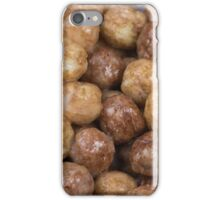 Chocolate cocoa puffs cereal background iPhone Case/Skin