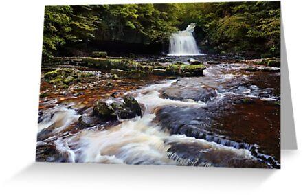 West Burton Falls (Cauldron Falls) - The Yorkshire Dales by Dave Lawrance
