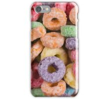 Fruit loops cereal background iPhone Case/Skin