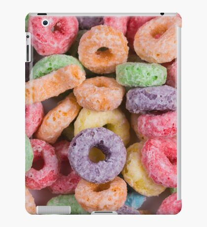 Fruit loops cereal background iPad Case/Skin