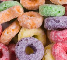 Fruit loops cereal background Sticker