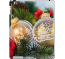 Christmas ornaments with greenery iPad Case/Skin