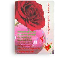 Christmas Card, Rose challenge Canvas Print