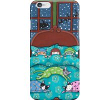 Bedtime With Cats iPhone Case/Skin