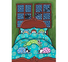 Bedtime With Cats Photographic Print