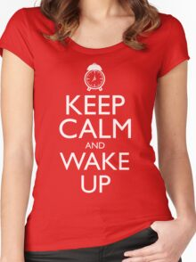 Discreetly Greek - Keep Calm and Wake Up Women's Fitted Scoop T-Shirt