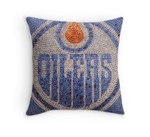 The Oilers - Bottle Cap Mosaic Throw Pillow