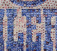 The Oilers - Bottle Cap Mosaic Sticker