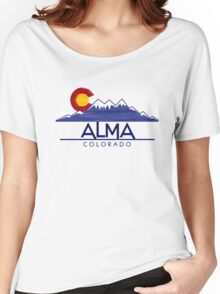 Alma Colorado wood mountains Women's Relaxed Fit T-Shirt