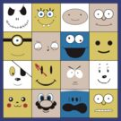 Celebrittoon Squares by cactusrobtees