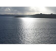 sun shining on the river Fal. Photographic Print