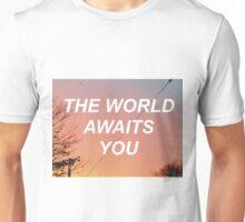 The World Awaits You - Sunset  Unisex T-Shirt