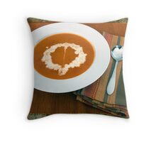 Roasted Red Pepper Soup Throw Pillow