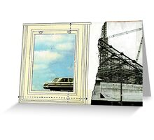 we left our youth in the frame and headed straight for reality' Greeting Card