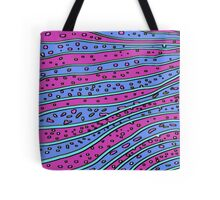 Retro Blue and Purple Waves iPhone and iPad Cases Tote Bag