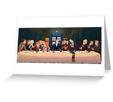 Last Tea & Biscuits - Doctor Who Greeting Card