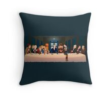 Last Tea & Biscuits - Doctor Who Throw Pillow