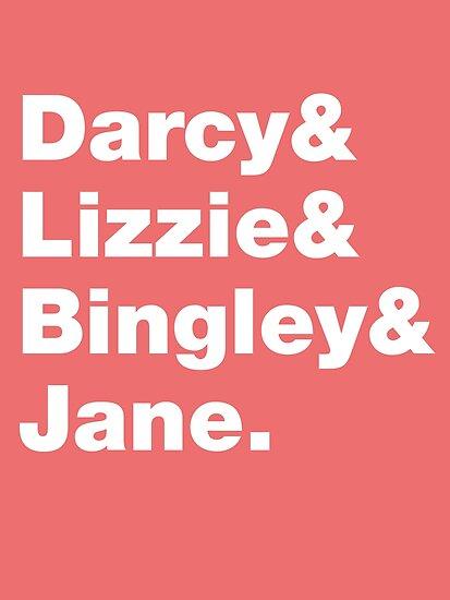 Darcy&Lizzie&Bingley&Jane.  by nimbusnought